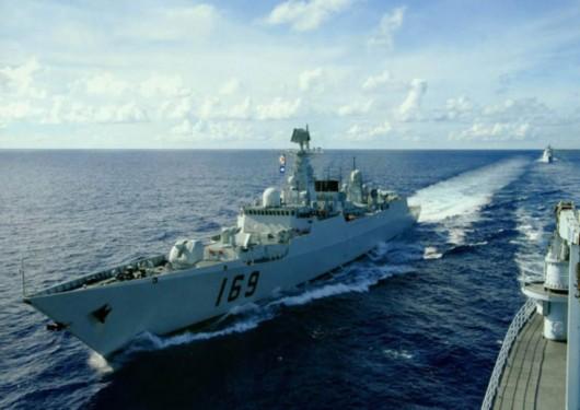 美国声称中国军方在夸耀不断增加的水兵实力