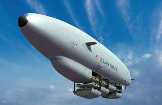 美国正开发可在高空辨认敌人的新式无人飞艇