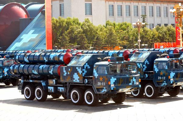 """外国媒体称我国""""仿制""""美反导系统,中心为红9导弹"""