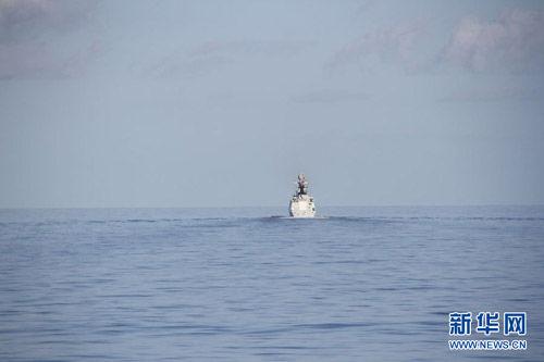 郑和舰驶入亚丁湾与我国护航编队会集