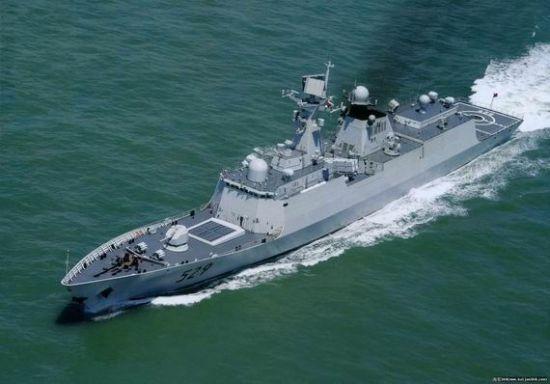 """054A舰在电子战机与导弹联合冲击下被""""消灭"""""""