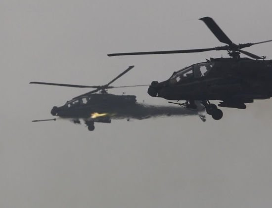 发射3000余发各类弹药 韩国、美国在38线邻近军演