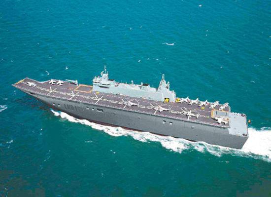 澳大利亚第二艘堪培拉级两栖进犯舰下水 排水量到达27500吨