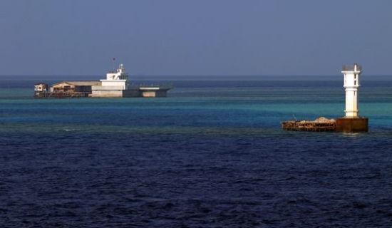 我国在渚碧礁装置新雷达 据菲律宾操控的岛屿仅12海里