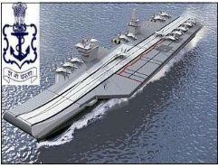 印度开端制作其水兵最大吨位的第二艘国产航空母舰