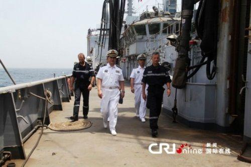 中国水兵护航水准高 法国水兵少将称誉道