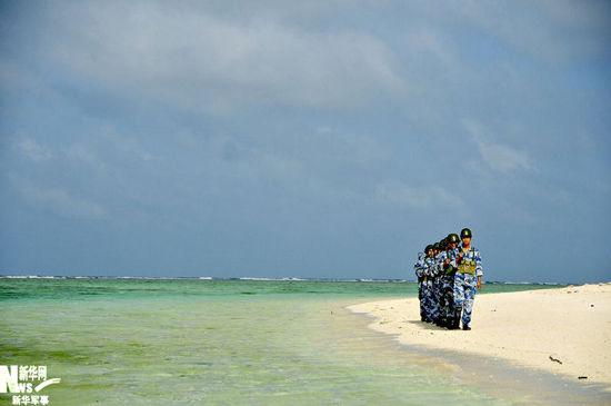 我国三沙市岛礁 现有戎行布置已近饱满
