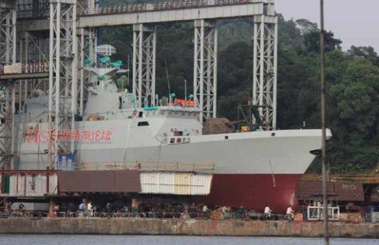 我国056型护卫舰用于抵挡美国濒海战斗舰