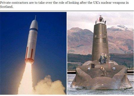 私家公司将接收英军三叉戟核洲际导弹15年