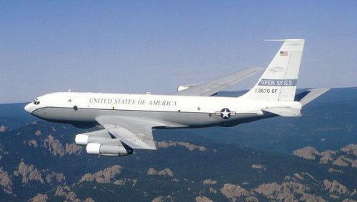 美国监测飞机将在俄罗斯领空进行为期一周的监测飞翔