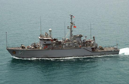 美国现已向台湾交给2艘二手鹗级猎雷舰