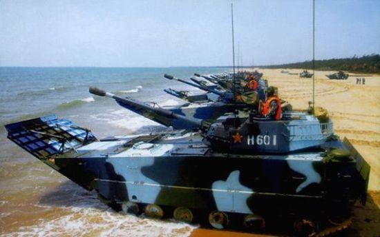 我国有两个海军陆战旅均布置在南海舰队