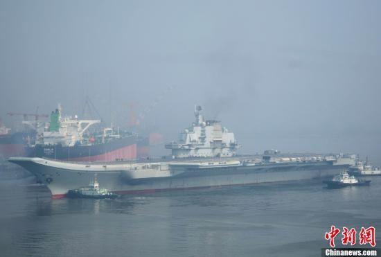 我国航空母舰渠道在曩昔一年中完结9次海上测验