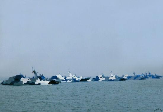 越南水兵无法接受我国的舰艇群的1次导弹齐射