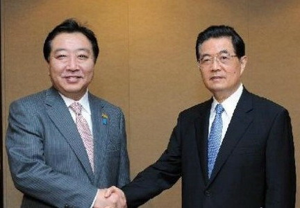 日本首相野田致信胡锦涛欲修正联系 我国绝不会退信
