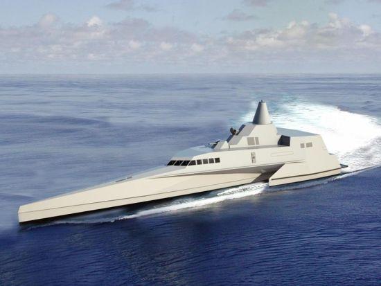 印尼水兵新式三体隐身导弹巡逻艇29日下水测验