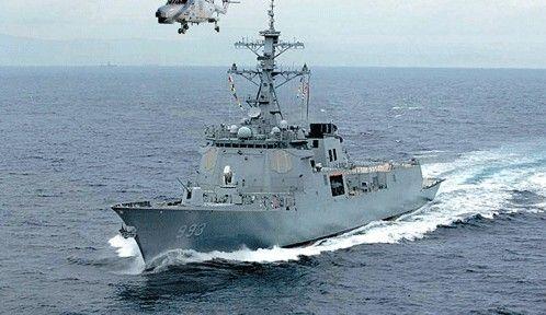 韩国水兵第三艘宙斯盾战舰正式进入股役期