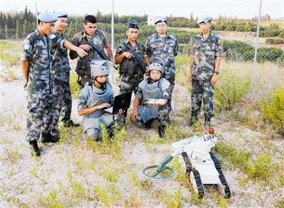 我国工兵扫雷速度是联合国部队中平均速度的7倍多