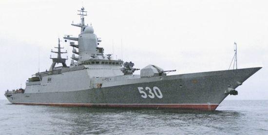 俄罗斯新式护卫舰在世界演习中因电缆短路而冒烟