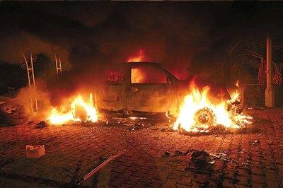 美国驻利比亚大使遭受火箭弹突击身亡