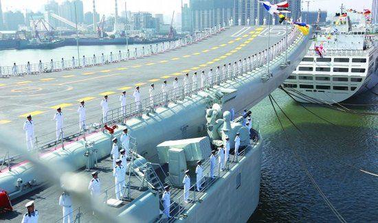 我国第二艘航母估计年末下水 网上撒播其正在上海制作