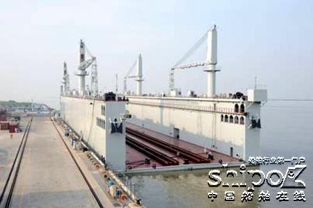 6000吨级自航式浮船坞 世界首艘浮坞人山人海中国海军