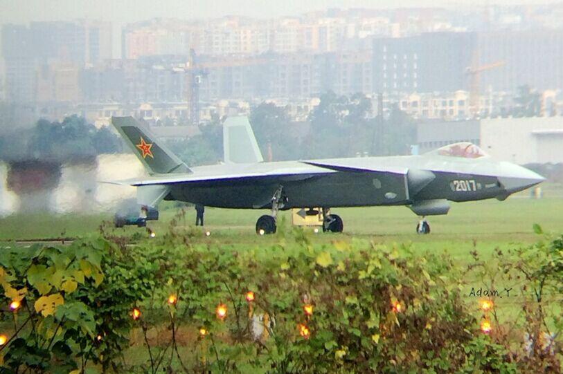最终定型试飞机歼20,将在2017号歼20上展现