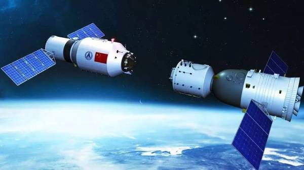 """""""神舟十一号""""与""""天宫二号""""对接成功,进程似在太空中牵线搭桥"""