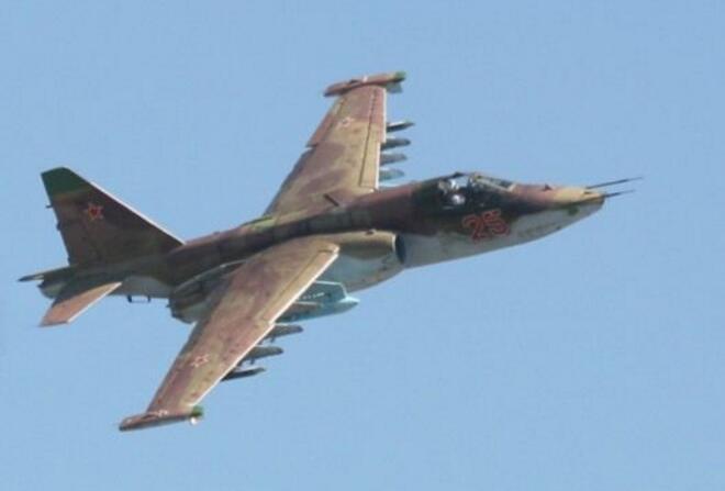 俄罗斯研制的强行打破敌防空火力的强击机在叙利亚伊德利卜省被击落